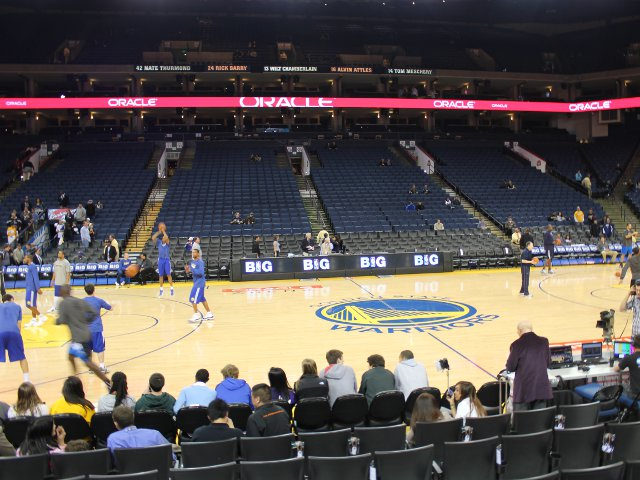 Golden State Warriors Courtside Seats