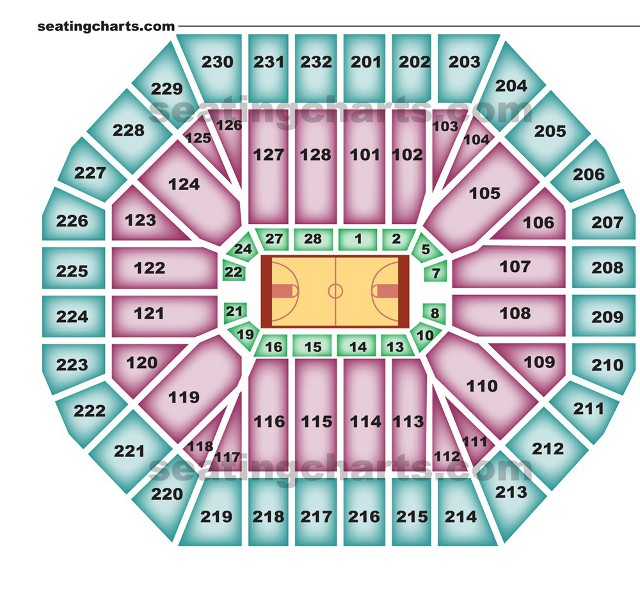 Golden State Warriors Seating Chart for Oracle Arena