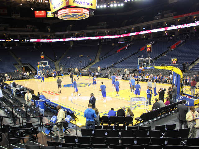 Golden State Warriors Section 124