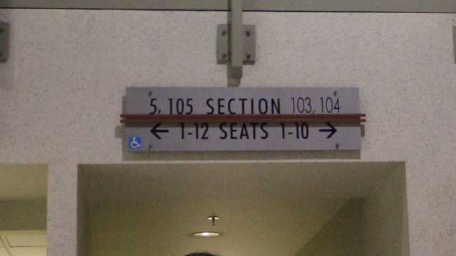 Oracle Arena Section 103 sign