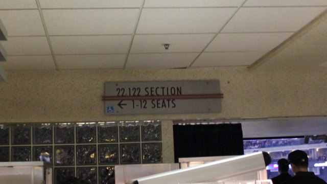 Oracle Arena Section 122 sign