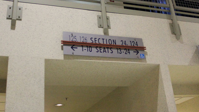 Oracle Arena Section 125 sign