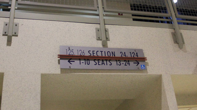 Oracle Arena Section 126 sign