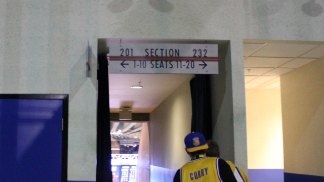 Oracle Arena Section 201 sign