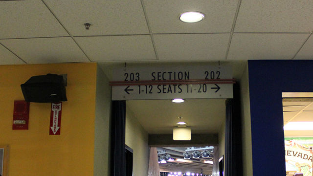 Oracle Arena Section 203 sign