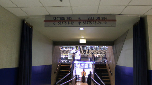 Oracle Arena Section 205 sign