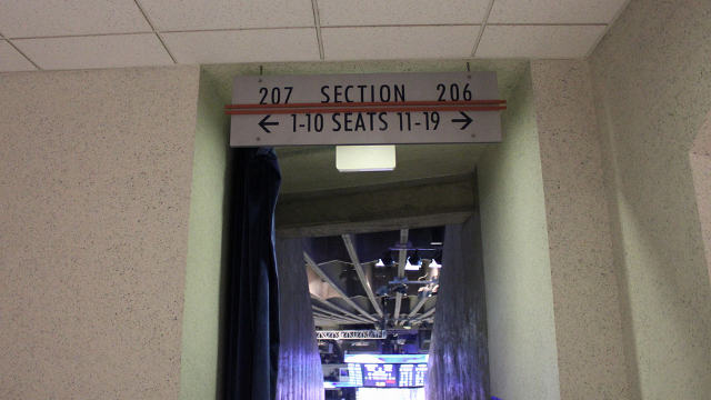 Oracle Arena Section 207 sign