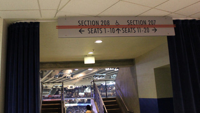 Oracle Arena Section 208 sign