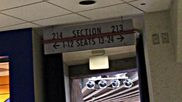 Oracle Arena Section 214 sign