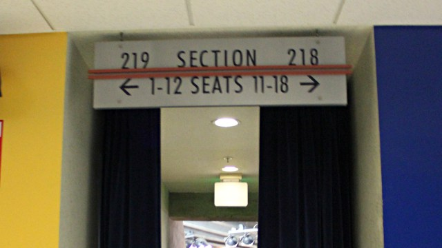 Oracle Arena Section 219 sign