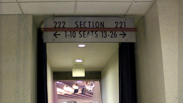 Oracle Arena Section 222 sign