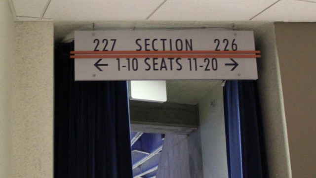 Oracle Arena Section 226 sign