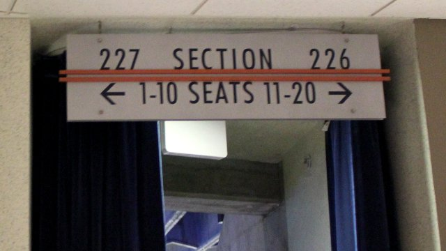 Oracle Arena Section 227 sign