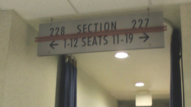 Oracle Arena Section 228 sign
