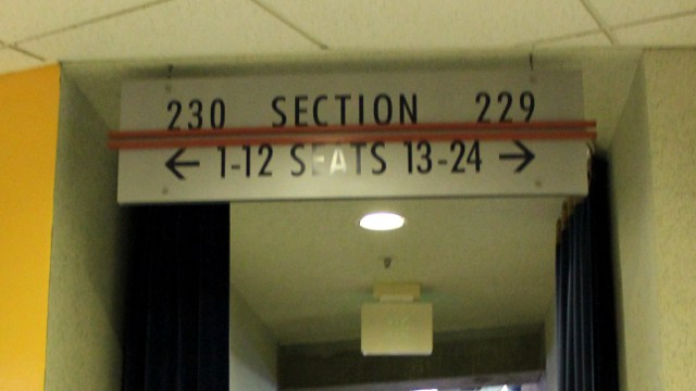 Oracle Arena Section 230 sign